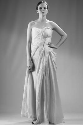 long haute couture asymmetric dress  - 73