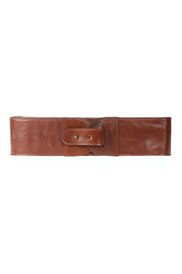 cowhide wide belt  - 213