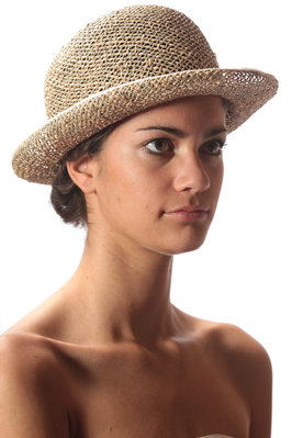grosgrain trimmed seagrass hat - SCHA