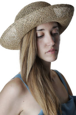 seagrass wide brimmed hat  - 228