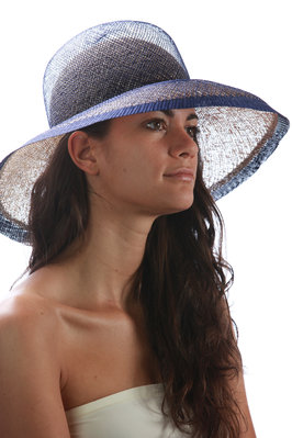 double crown wide-brimmed hat  - 228