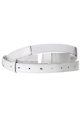 leather and clear PVC belt  - 47