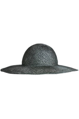 black and silver sinamay hat  - 228