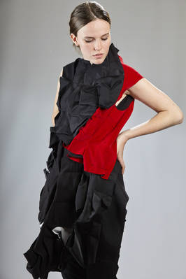 long abstract vest in origami-like crushed layers - COMME DES GARÇONS