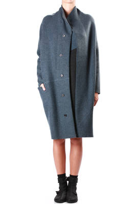 Oyuna Metal And Charcoal Cashmere Knit Coat Ivo Milan