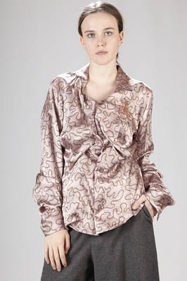 Tight shirt in acetate and viscose jacquard with Gold Label logo pattern  - 267