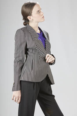 Fitted-at-the-waist jacket in pinstripe wool - VIVIENNE WESTWOOD - Red