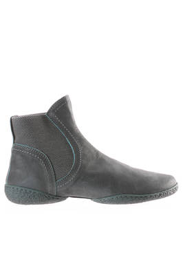 MANCHESTER ankle boot in soft suede cowhide leather with 2 shells sole  - 51