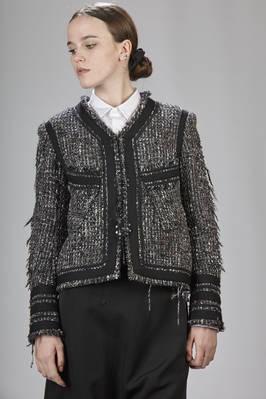 aa47c502c Y S Yohji Yamamoto -  Chanel -Like Short Jacket In Carded Polyester ...