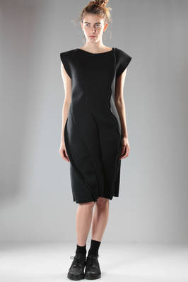 calf-length dress in doubled polyester neoprene  - 259