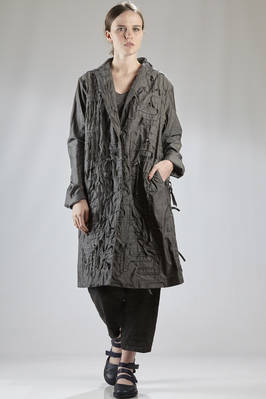 linear overcoat in 'special tea dungaree' cotton canvas  - 202