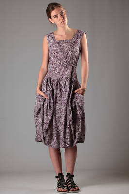 jacquard viscose dress with paisley and two-colours checks  - 266