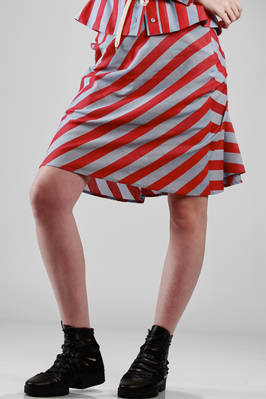 cotton etamine skirt with stripes  - 266