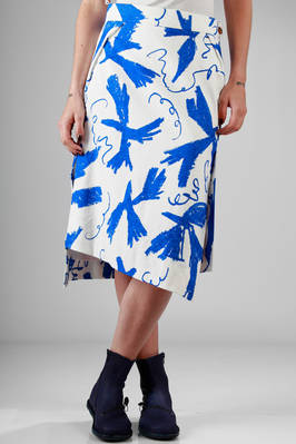 flared skirt in cotton jacquard with 'Matisse' printing - VIVIENNE WESTWOOD - Red
