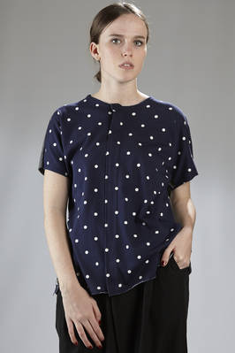 cotton jersey t-shirt with printed polka -dots on the front and plain on the back  - 157