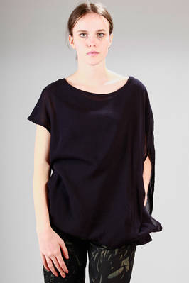 wide and doubled t-shirt in viscose and linen voile  - 97