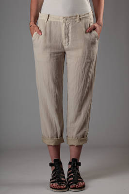 doubled cotton chiffon on cupro canvas trousers  - 97