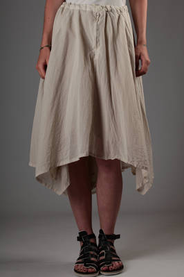 half-full skirt in doubled cotton chiffon on cupro canvas  - 97