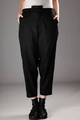 wide trousers in linen and cotton etamine  - 73