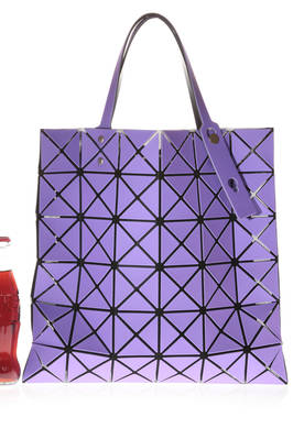 medium squared shopper bag with opaque PVC triangular plates  - 237