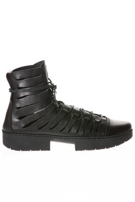 FIGHT boot in cowhide leather and new two-blocks rubber sole  - 51