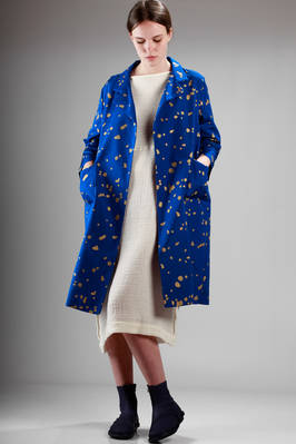 waterproof silk faille overcoat with spots pattern  - 195