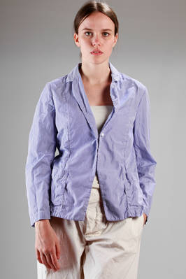 man style jacket in washed and creased cotton poplin with stripes  - 195