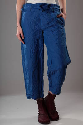 wide man style trousers in washed and creased linen canvas  - 195