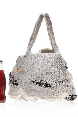 c47f8728e99 DANIELA GREGIS - Multicolour Short Bucket Handbag In Heavy Crocheted Linen  And Cotton :: Ivo Milan