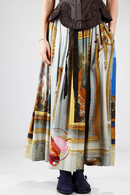 wide and long skirt/dress in silk and viscose jersey with 'Wallace Collection' printing  - 267
