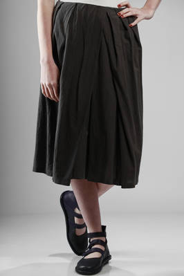 washed cotton muslin calf-length skirt  - 275