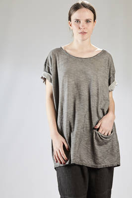 "long and wide t-shirt in ""badly dyed"" cotton jersey  - 275"