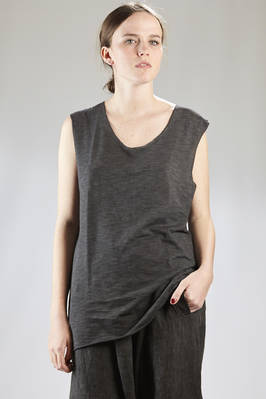 light cotton jersey vest with iridescent effect  - 275