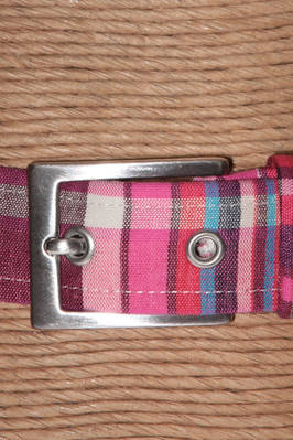 3 cm-high belt in multicolour printed cotton - MAE