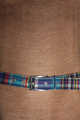 3 cm-high belt in multicolour printed cotton  - 278