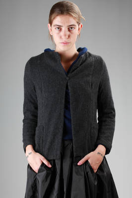 short and slim fit jacket in boiled cashmere canvas  - 195
