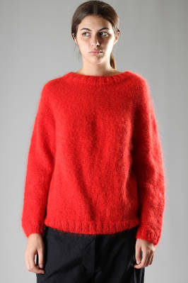 egg-shaped sweater in straight stitched mohair and silk  - 195