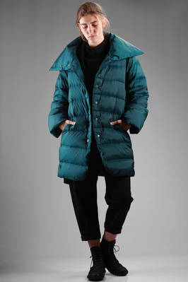 knee-length down padded jacket in shiny polyester  - 111