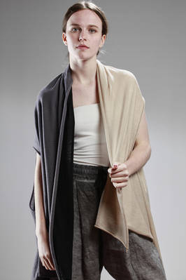 three layers cape in stocking stitch wool and lyocell in three different colours  - 111