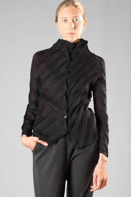 jacket in fan origami pleated polyester  - 203