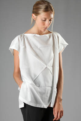 long shirt in big triangular origami pleated polyester with a cotton effect  - 203