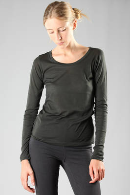basic t-shirt in smooth cotton gauze  - 203