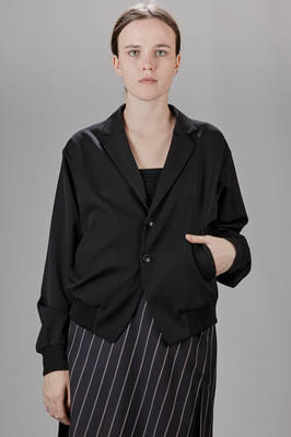 spencer jacket in wool gabardine with cuff and hem bands  - 97