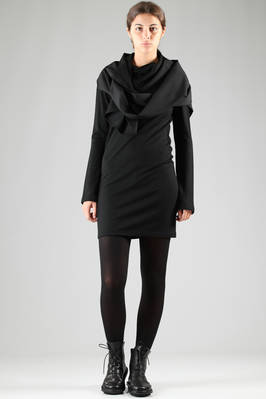 short jersey and gabardine wool dress  - 73