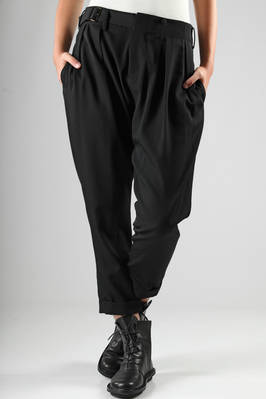 wool gabardine trousers  - 73