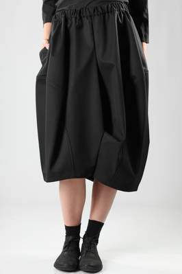 balloon divided skirt in glossy silk and wool gabardine  - 48