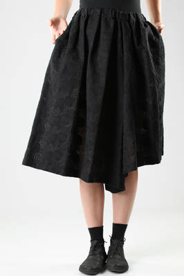 divided skirt in embroidered lace of washed cotton and polyester  - 48