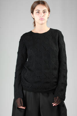 doubled sweater in nylon tulle and three-dimensional knitted alpaca and wool  - 48