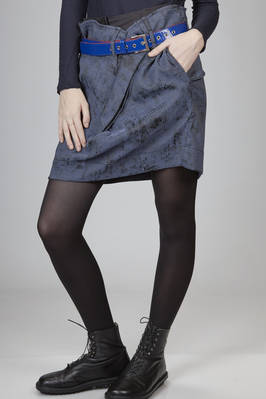 miniskirt in polyester and elastane canvas with  a worn-out velvet effect printing - VIVIENNE WESTWOOD Anglomania
