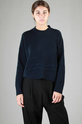 short sweater in knitted extra fine wool, polyamide and yak  - 227